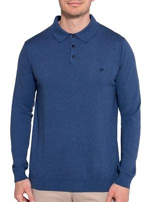 Pánská modrá polokošile Wrangler Polo Shirt mottled blue WR-1371