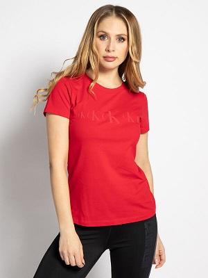 Dámské červené letní tričko Calvin Klein T-Shirt red
