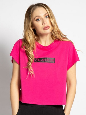 Dámské růžové tričko Calvin Klein T-Shirt pink