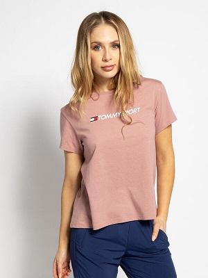 Dámské růžové tričko Tommy Hilfiger T-Shirt pink