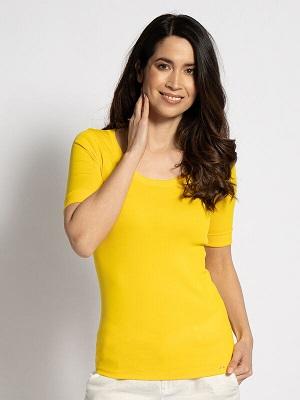 Dámské žluté tričko Marc Cain T-Shirt yellow NC 48.69 J14