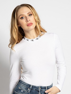 Dámské bílé tričko Calvin Klein Body white