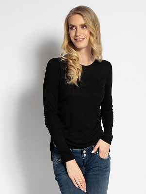 Dámské černé tričko Pepe Jeans Long Sleeve Top black