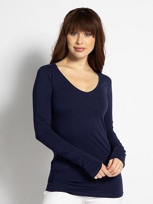Dámské tmavě modré tričko Mishumo Long-Sleeved Top navy MI-12569