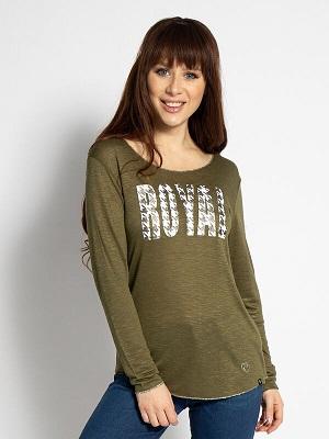 Dámské zelené tričko Key Largo Long Sleeve Top khaki