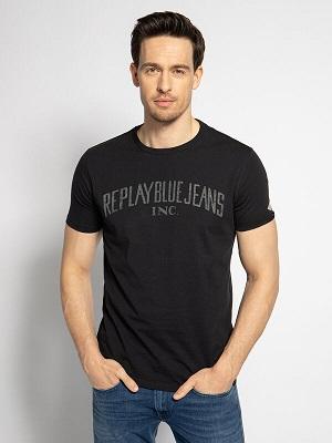 Pánské černé letní tričko Replay T-Shirt black M3139
