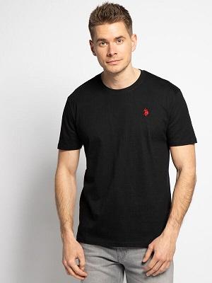 Pánské černé tričko U.S. Polo Assn. T-Shirt black 61168