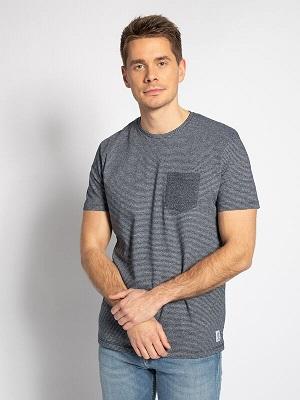 Pánské šedo černé tričko Tom Tailor T-Shirt mottled black