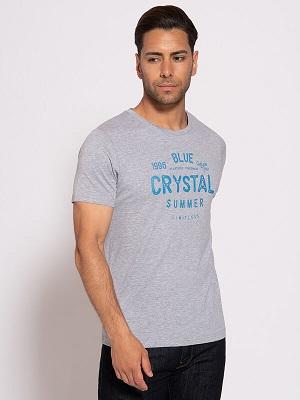 Pánské světle šedé tričko Milano T-Shirt heather light grey MIL-6489