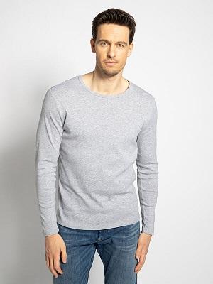 Pánské světle šedé tričko G-Star Long Sleeve Top heather light grey
