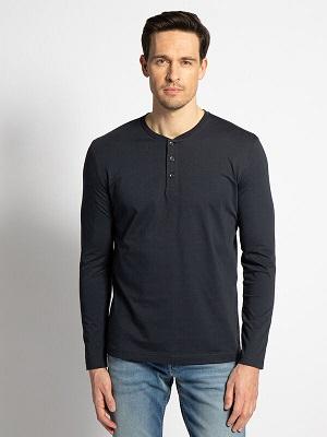 Pánské tmavě modré tričko Mishumo Long Sleeve Top navy MI-8798