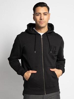 Pánská černá mikina na zip Pepe Jeans Sweatshirt Jacket black