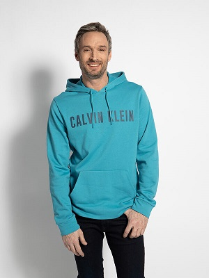 Pánská tyrkysová mikina s kapucí Calvin Klein Hoodie turquoise