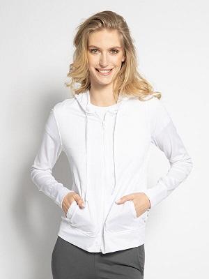 Dámská bílá mikina na zip LTB Sweatshirt Jacket white