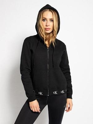 Dámská černá mikina na zip Calvin Klein Sweatshirt Jacket black